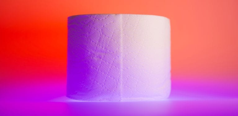 toilet roll side in neon color
