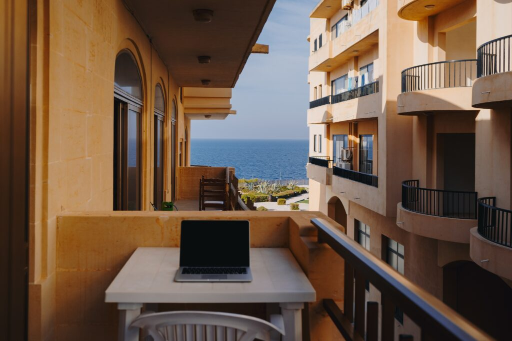 working from home near sea